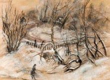 Neve-tempestade ilustração do vetor