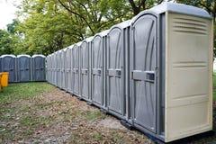 Tempolary toalett Arkivbilder