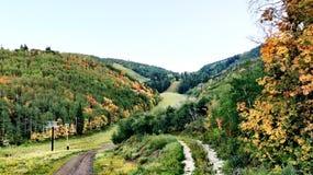 Temporada de otoño de la montaña de Park City Foto de archivo