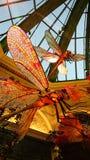 Temporada de otoño en invernadero del hotel de Bellagio y jardines botánicos foto de archivo