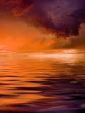 Temporale sopra il mare Fotografia Stock
