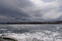 Temporale sul mare Immagine Stock Libera da Diritti