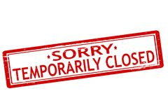 Temporarily closed. Rubber stamps with text temporarily closed inside,  illustration Royalty Free Stock Photography