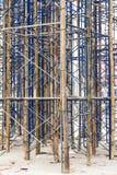 Temporary bracing scaffolding. Stock Photo