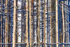 Temporary bracing scaffolding. Royalty Free Stock Image