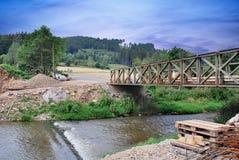 A temporary bridge Royalty Free Stock Photography