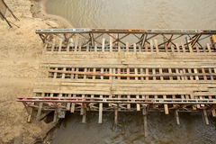 Temporary bridge. Royalty Free Stock Photography