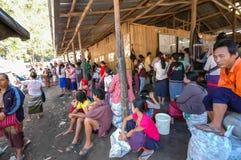 Temporary evacuation shelters Stock Photos