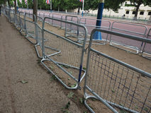 Temporary fencing on the Mall Royalty Free Stock Photo