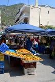 Temporary food market. Royalty Free Stock Photo
