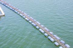 A temporary footbridge Royalty Free Stock Photo