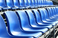 Temporary grand seat. Temporary blue color grand seat Stock Image