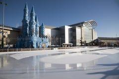 Temporary ice rink Bristol England UK Stock Photo