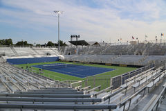 Temporary Louis Armstrong Stadium at the Billie Jean King National Tennis Center ready for US Open 2017 tournament Stock Image