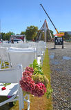 Temporary Outdoor Church and New Cathedral, Christchurch, New Ze royalty free stock image