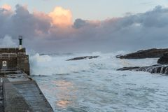 Temporary in the sea of the Galician coasts Royalty Free Stock Images