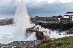 Temporary in the sea of the Galician coasts Royalty Free Stock Photos