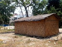 Temporary Shed for construction Stock Image