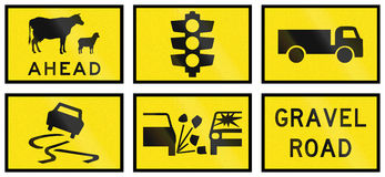 Temporary Signs In Australia Royalty Free Stock Photography