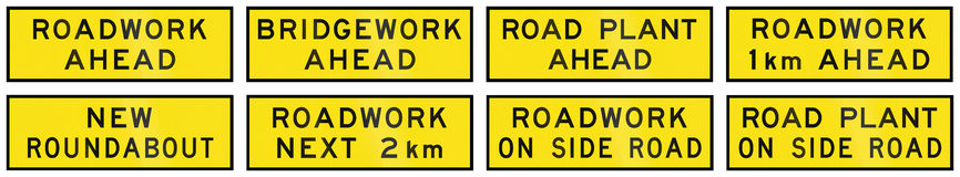 Temporary Signs In Australia Royalty Free Stock Image