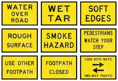 Temporary Signs In Australia Royalty Free Stock Photos