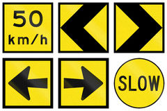 Temporary Signs In Australia Royalty Free Stock Photo