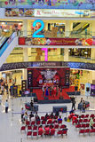Temporary Stage Performance at the Atrium area of Shopping Mall. This is a common way to attract customers especially for a newly opened mall Royalty Free Stock Photos