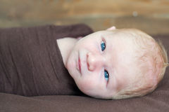 Temporary strabismus newborn Stock Photography