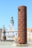 Temporary tower in Ceske Budejovice Royalty Free Stock Photo