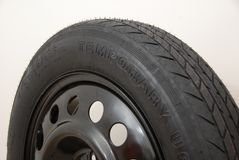 Temporary tyre Royalty Free Stock Image