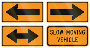 Temporary United States MUTCD road signs Royalty Free Stock Photography