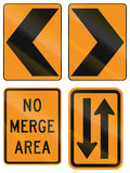 Temporary United States MUTCD road signs Royalty Free Stock Image
