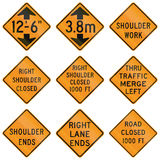 Temporary United States MUTCD road signs Royalty Free Stock Photo