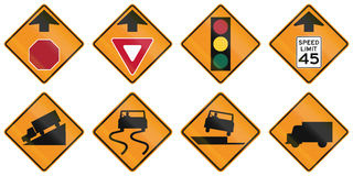 Temporary United States MUTCD road signs Stock Photography