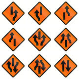 Temporary Warning Road Signs In Indonesia Royalty Free Stock Photo