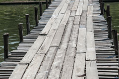 Temporary Wood Bridge Royalty Free Stock Images