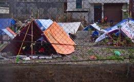 Temporay camp Stock Image