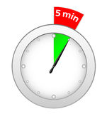 Temporizador 5 minutos Imagem de Stock
