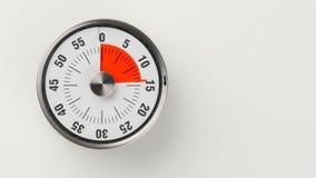Temporizador análogo da contagem regressiva da cozinha do vintage, permanecer de 14 minutos foto de stock