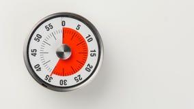 Temporizador análogo da contagem regressiva da cozinha do vintage, permanecer de 35 minutos Imagem de Stock Royalty Free