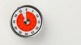 Temporizador análogo da contagem regressiva da cozinha do vintage, permanecer de 55 minutos Foto de Stock Royalty Free