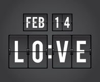 Temporizador da aleta da contagem regressiva do dia de Valentim Foto de Stock