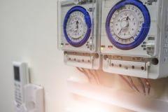 Temporizador da condição do ar na sala do servidor imagens de stock royalty free