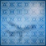 Temporizador da contagem regressiva e data, números do placar do calendário Fotos de Stock Royalty Free