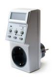 Temporizador do LCD da eletricidade da economia de energia. Imagens de Stock