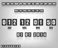 Temporizador e data da contagem regressiva Fotos de Stock