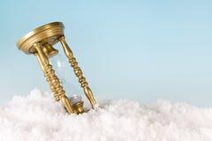 Temporizador na neve fotografia de stock royalty free