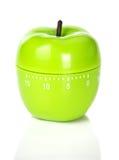 Temporizador verde pomiforme no branco Imagens de Stock Royalty Free