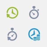 Temporizadores - ícones do granito ilustração royalty free