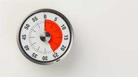 Temporizzatore analogico d'annata di conto alla rovescia della cucina, rimanere di 25 minuti Immagini Stock